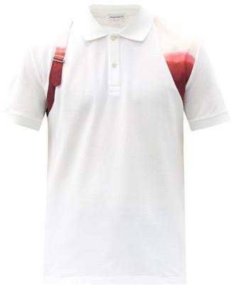 Alexander McQueen Harness Dip-dye Cotton-pique Polo Shirt - White