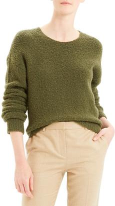 Theory Shrunken Camel Boucle Sweater
