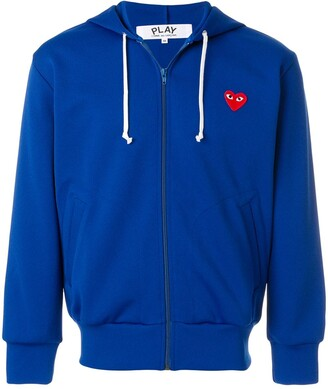Comme des Garcons Zipped Heart Logo Hoodie