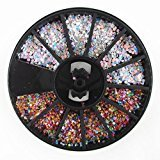 DZT1968 3D Nail Art Rhinestones Glitters Nail Glue Tipsartificial nails Wheel New Hot (G)