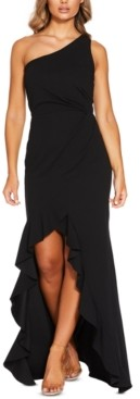 Quiz One-Shoulder High Low Gown