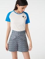 Maje Lurex jacquard shorts