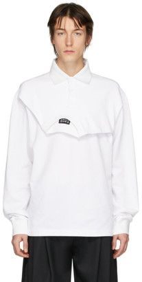 Feng Chen Wang White Double Collar Polo