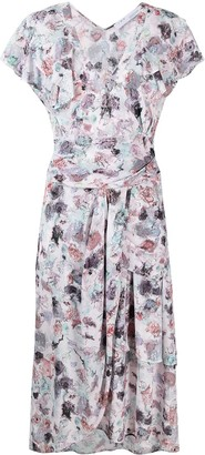 IRO Abstract-Print Midi Dress