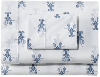 L.L. Bean Sara Fitz Lobster Percale Sheet Collection