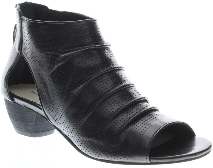 Spring Step Perforated Leather Booties - Avidra