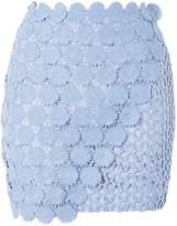 Topshop Wrap Lace Mini Skirt