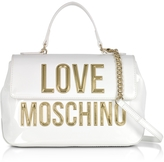 Love Moschino Patent Eco Leather Shoulder Bag w/Signature Logo