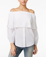 GUESS Annalisa Off-The-Shoulder Flounce Top