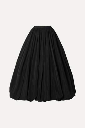 Co Gathered Taffeta Midi Skirt - Black