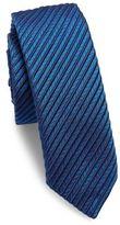 HUGO BOSS Textured Striped Silk Tie