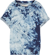 Current/Elliott The Rolled Sleeve tie-dyed cotton-terry sweatshirt