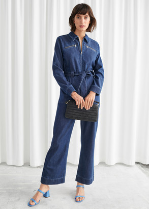 And other stories Organic Cotton Denim Jumpsuit