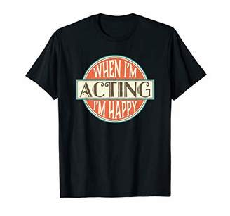 IDEA Acting T-shirt Vintage Theater Actor Actress Gift