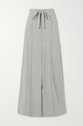Loewe Striped Silk Wide-leg Pants - White