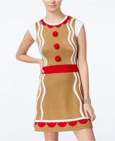 Hooked Up by IOT Juniors' Gingerbread Holiday Sweater Dress