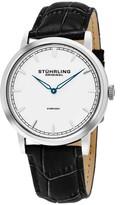 Stuhrling Original Men's Alligator Embossed Vanguard Quartz Watch