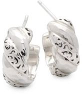 Lois Hill Signature Scroll Sterling Silver Stud Earrings