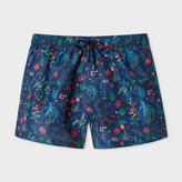 Paul Smith Men's Navy 'Botanical Jungle' Print Swim Shorts