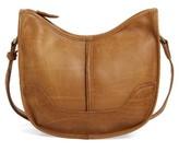 Frye Cara Leather Saddle Bag - Beige