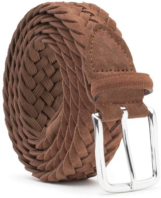 Dalgado Braided Suede Belt Cognac Gilberto