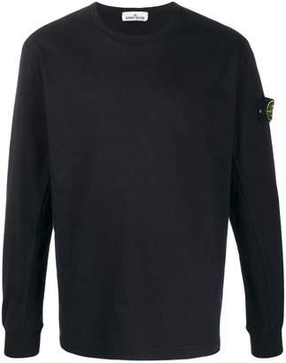 Stone Island compass badge sweatshirt