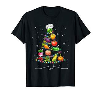 Lunch Lady Vegetable Food Christmas Tree Funny Xmas Gift T-Shirt