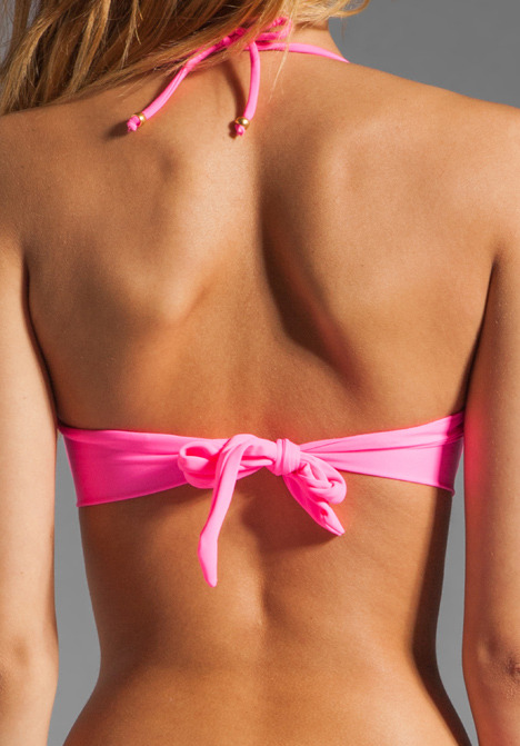 Eberjey So Solid Dahlia Bikini Top