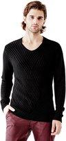 GUESS Men's Luke Crosshatch Knit Sweater
