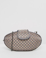 Lotus Woven Clutch Bag