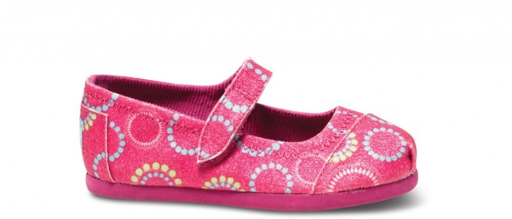 Toms Circle glitter tiny mary janes