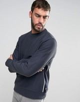 Paul Smith Crew Sweatshirt Side Piping in Navy