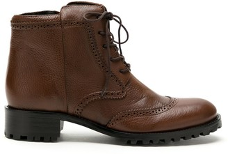 Sarah Chofakian Chelsea lace-up leather boots