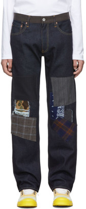 Junya Watanabe Blue Levis Edition 503 Patch Jeans