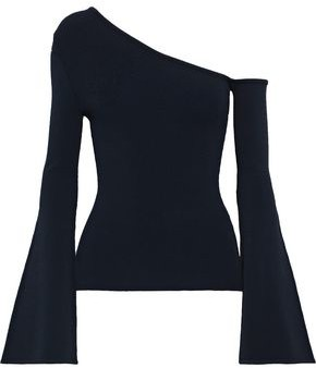 Autumn Cashmere One-shoulder Stretch-knit Top