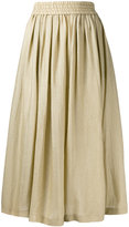 Etro metallic full midi skirt