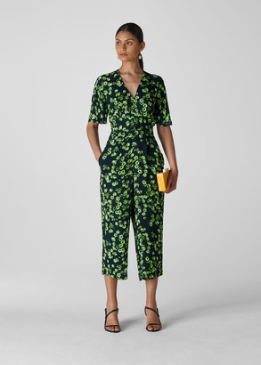 Digital Daisy Print Jumpsuit