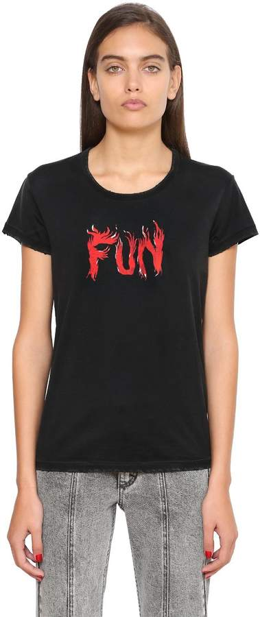 Givenchy Fun Print Cotton Jersey T-Shirt