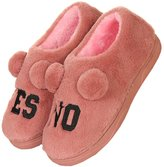 Superneng slippers shoes SPN Unisex personality Yes Or No indoor non-slip warm shoes cotton slippers