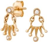 Celine Daoust Baby Diamond Sun Crown Stud Earrings