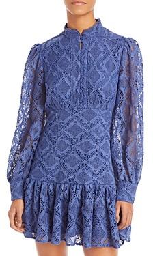 Aqua Lace Mini Dress - 100% Exclusive