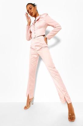 boohoo Tailored Satin Trouser