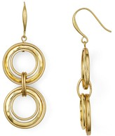 Robert Lee Morris Soho Gold Link Double Drop Earrings
