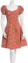 Zac Posen Floral Jacquard Cocktail Dress