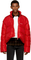 Balenciaga Red Quilted Down Ripstop Jacket