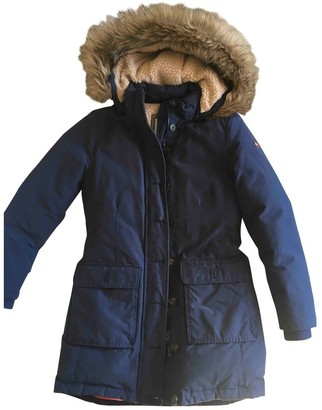 Tommy Hilfiger Navy Cotton Coat for Women