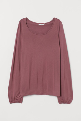 H&M MAMA Long-sleeved Nursing Top - Pink