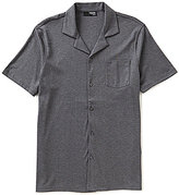Murano Liquid Luxury Short Sleeve Slim-Fit Knit Camp Shirt