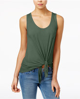 Rebellious One Juniors' High-Low Tie-Hem Tank Top