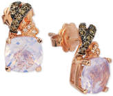 LeVian Le Vian Chocolatier Lavender Quartz (3-5/8 ct. t.w.) & Diamond (1/6 ct. t.w.) Drop Earrings in 14k Rose Gold